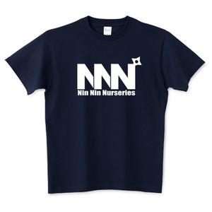 Dyckia Maniax ディッキア・マニアックス オリジナルTシャツNo.008「NNN:黒ロゴ」ネイビー