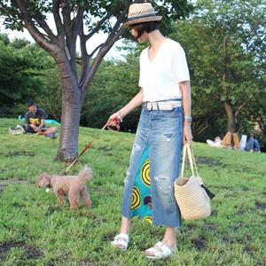 【オーダー品】デニムリメイク・アフリカンプリントスカート