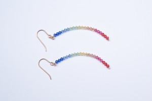 Double Rainbow pierced earring