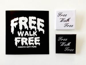 FREE WALK FREE - Sticker & Badge Set
