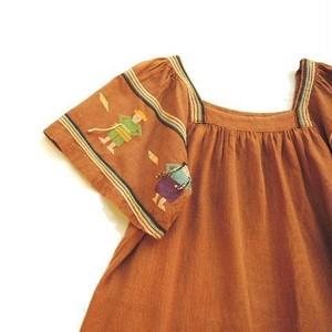 Vintage Guatemalan Embroidered Cotton Dress