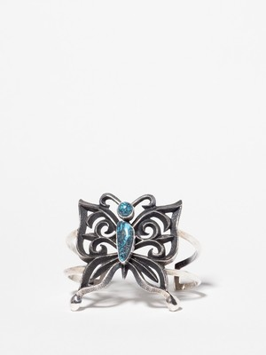 Navajo Turquoise Butterfly Bangle / Aaron Anderson