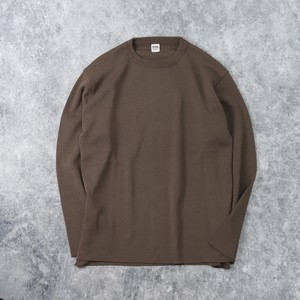 【BARNS OUTFITTERS】MILANO RIB SWEATER  (BROWN) ニット セーター バーンズアウトフィッターズ 日本製 MADE IN JAPAN