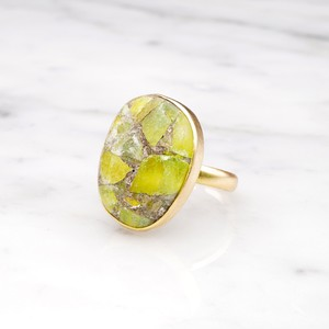 SINGLE BIG STONE RING GOLD 116