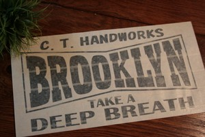 【受注製作】( L )『BROOKLYN』Black - Cutting Sticker