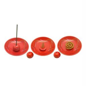 香立付香皿 華かんざし(薄紅) – 薫寿堂