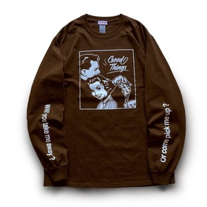 Season of love Long T-shirts ( Latte Brown )