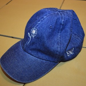 BUTTERFLY CAP DENIM/WHITE