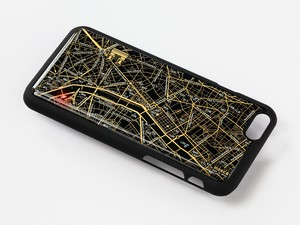FLASH Paris回路地図 iPhone6/6s ケース 黒【東京回路線図A5クリアファイルをプレゼント】