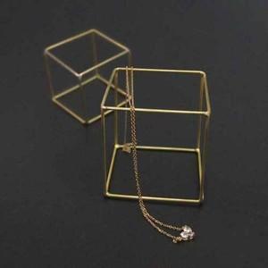 真鍮ディスプレイキューブ BRASS素材 サイズ2種類各3個入り SI-308031