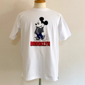 Schott×DISNEY/T-SHIRT BROOKLYN WHITE