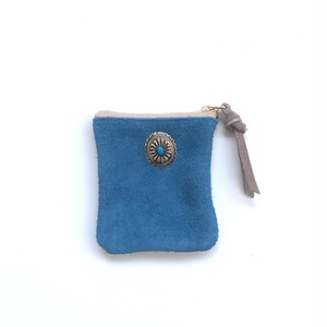 travel mini purse -seabed blue-