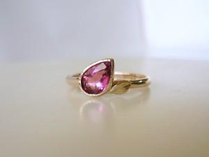 天然ピンクトルマリンとK10の指輪