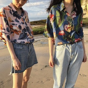 【お取り寄せ商品】tropical flower shirt 6305