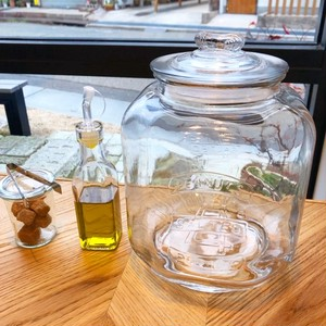 GLASS COOKIE JAR 容量:5L/お米4kg