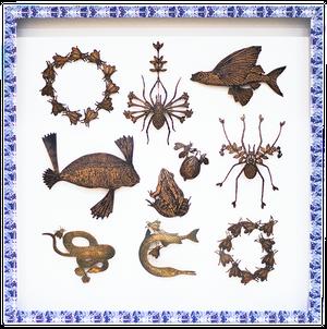 Michaël Cailloux Wall Jewelry mic-53 アート 銅版作品