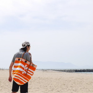Elliot Mann NewYork Satch Bag ボーダートートバッグL オレンジ