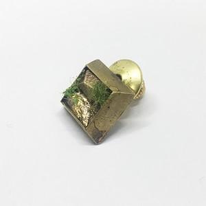 石壁シカクブローチ/brass