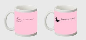 マグカップ 2個セット(ピンク&ピンクブラック)
