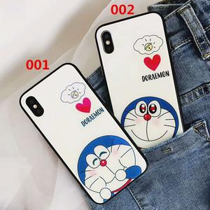 オリジナル iPhone8ケース 萌える ドラエモン アイフォン7プラスカバー 強化鏡面ガラス ジャケット 可愛い iphone6s plusカバー カップル オシャレ