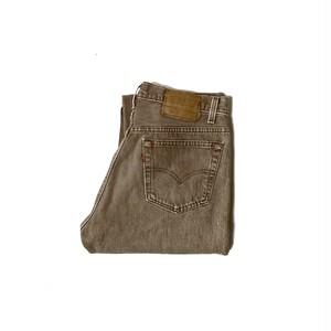 "90's ""LEVI'S / 501"" (33×34) FADED BROWN DENIM PANTS"