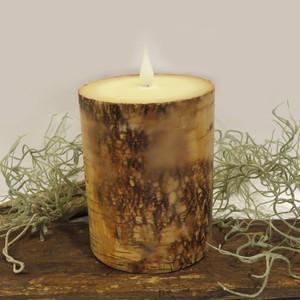 キャンドルそのままの「LEDキャンドル」 バーチ(木の皮)