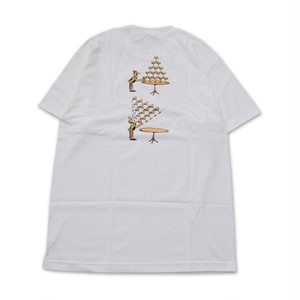 PASS PORT / CHAPERS TEE -WHITE-