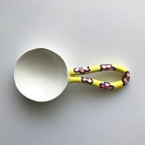 木村きっこ作 陶器の薬味スプーン