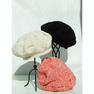 Pole Pole 18104 Cotton Hand-knit Beret コットン 手編みベレー帽