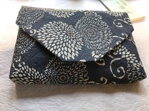 京都黒谷和紙  型染 すきや袋 【一点物】