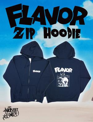 FLAVOR ZIP HOODIE -Navy-