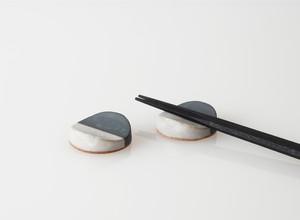 TSUKI(YUKI) カトラリーレスト(瓦食器・箸置き・2個セット)