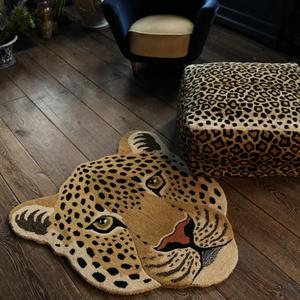 Himani Leopard Head Rug Large