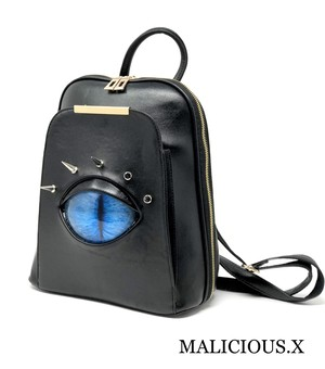 cat eye backpack / blue