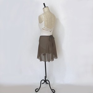 "❖""Fiorina"" Ballet Wrap Skirt - Olive Brown [Sheer]( オリーブブラウン [シアー])"