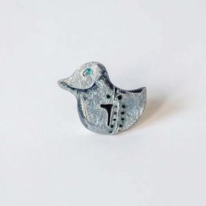 ジェイ|七宝焼ブローチ|Silver(オーダメイド)