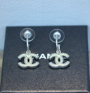 .CHANEL A12 C COCO MARC SWING EARRING MADE IN FRANCE/シャネルココマークぶらさがりピアス 2000000029726