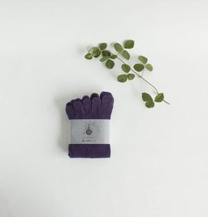 冷え取りシルク5本指靴下   (ログウッド染め)  温活 出産祝い 妊活  (お色は1枚~8枚目)