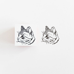 ラバースタンプ トラ猫 RS23