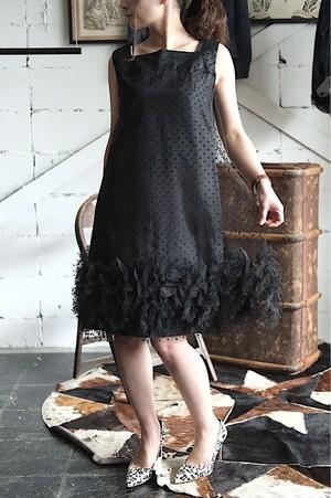 Vintage dot tulle mini dress