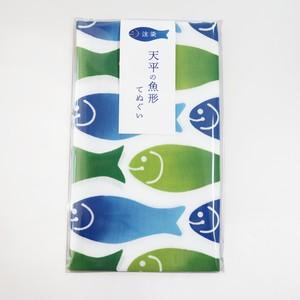 【注染】天平の魚形てぬぐい
