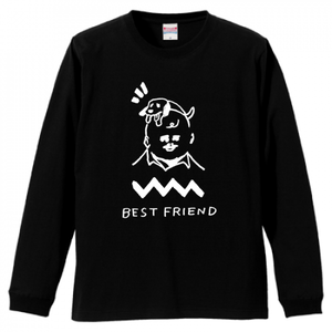 「BEST FRIEND」ロングスリーブTシャツ(BLACK)