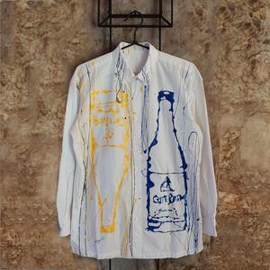 F's bottle【 藤井清秀  シャツアート】ブルー+イエローボトル S