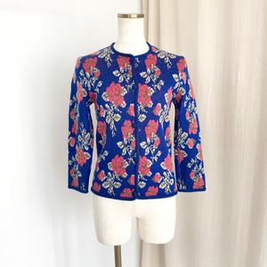 Flower knit cardigan