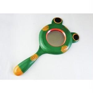 バリ雑貨 カエルの手鏡 tmbn21-1704