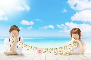 【Resort】ウェディング ガーランド JUST MARRIED ★南国テイスト★