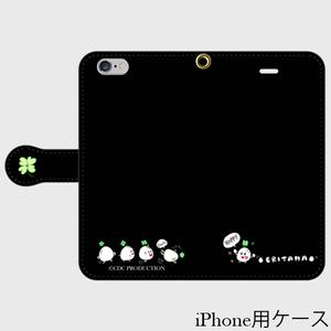 手帳型スマホケース / えりたま /ブラック
