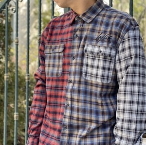 "LEFLAH / レフラー | "" MULTICOLOR CHECKED SHIRTS "" - Red"