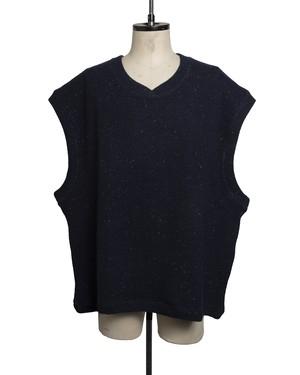 T/f loose fit knit vest - deep sea