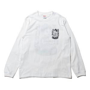 JUN GRAY RECORDS L/S SHIRTS (WHITE)
